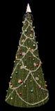 Negro del árbol de navidad Imagen de archivo