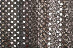 Negro del Año Nuevo de la Navidad y fondo del brillo de la plata Tela de la textura del extracto del día de fiesta Imagenes de archivo