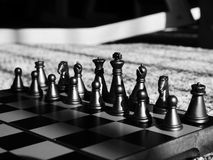 Negro del ajedrez Fotografía de archivo libre de regalías