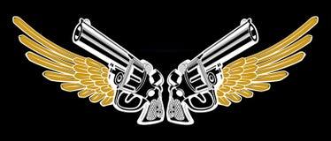 Negro del ala del revólver Fotos de archivo libres de regalías