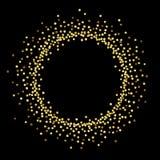 Negro del círculo del oro Foto de archivo libre de regalías