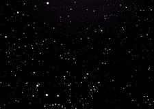Negro del cielo nocturno con las estrellas Fotos de archivo