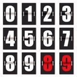 Negro del contador de reloj del número stock de ilustración