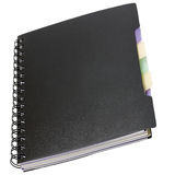 Negro del cuaderno de notas en espiral Foto de archivo