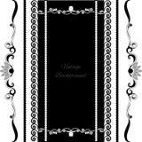 Negro del diseño del marco del fondo del vintage Imagenes de archivo
