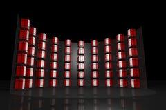 Negro del estante del servidor con el DOF Imagen de archivo libre de regalías