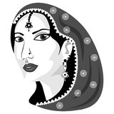 negro del este de la mujer Imagenes de archivo