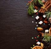 Negro del fondo del Año Nuevo o de la Navidad, espacio para el texto Fotos de archivo