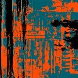 Negro del fondo del Grunge Azul marino Naranja Fotos de archivo