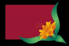 Negro del fondo y floral Foto de archivo libre de regalías