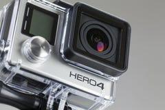 Negro del héroe 4 de GoPro fotografía de archivo libre de regalías