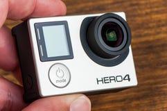 Negro del héroe 4 de GoPro Imagen de archivo libre de regalías