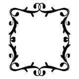 Negro del marco del vintage en blanco Foto de archivo