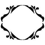 Negro del marco del vintage en blanco Imagen de archivo