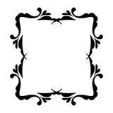 Negro del marco del vintage en blanco Imagenes de archivo