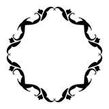 Negro del marco del vintage en blanco Imágenes de archivo libres de regalías