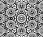Negro del modelo y garabato abstractos de la pizca ilustración del vector
