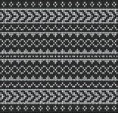 Negro del suéter del modelo que hace punto Imágenes de archivo libres de regalías