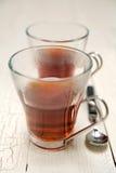 Negro del té Fotografía de archivo