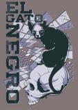 Negro di gato di EL Immagine Stock Libera da Diritti