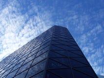 Negro en azul Foto de archivo libre de regalías