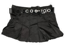 Negro, falda de la mujer fotos de archivo
