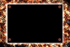 Negro firme encima la pared del grunge Foto de archivo libre de regalías