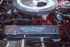 Negro Ford Thunderbird 1956 Fotografía de archivo