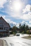 Negro Forest Landscape Lake Beautiful de la montaña de Titisee Alemania V foto de archivo libre de regalías