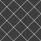 Negro inconsútil de cadena del modelo ilustración del vector