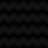 Negro inconsútil del modelo de la onda Foto de archivo