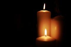 Negro ligero de la vela Fotografía de archivo