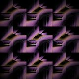 Negro ocre violeta púrpura del modelo futurista regular diagonalmente stock de ilustración