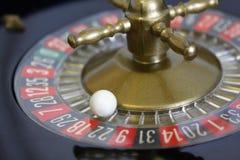 Negro rojo del número de la suerte del juego del juego de la ruleta Foto de archivo libre de regalías