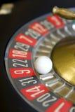 Negro rojo del número de la suerte del juego del juego de la ruleta Fotos de archivo libres de regalías