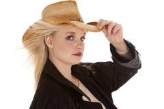 Negro serio del cowgirl Foto de archivo