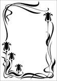 negro vertical moderno del marco Imagen de archivo