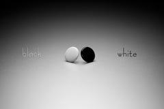 Negro y blanco Foto de archivo