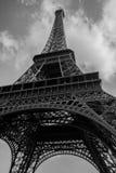 Negro y blanco de Eiffel del viaje Imágenes de archivo libres de regalías