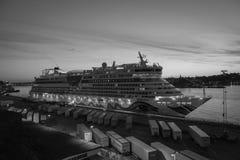 Negro y blanco de Estocolmo del paisaje de la ciudad fotos de archivo libres de regalías