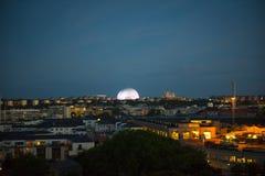 Negro y blanco de Estocolmo del paisaje de la ciudad Foto de archivo