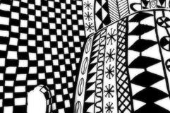 Negro y blanco de la pared de Africian Imagenes de archivo