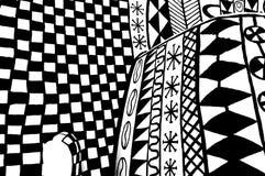 Negro y blanco de la pared de Africian Fotos de archivo libres de regalías