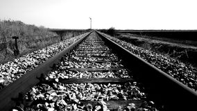 Negro y blanco del ferrocarril imagenes de archivo