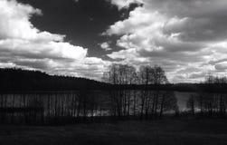 Negro y blanco del paisaje Imagenes de archivo