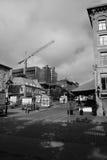 Negro y blanco del puerto viejo Imágenes de archivo libres de regalías