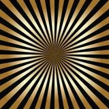 Negro y fondo abstracto del oro Fotografía de archivo libre de regalías