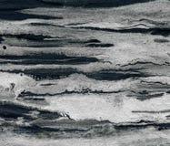 Negro y fondo del acrílico de la plata Fotos de archivo libres de regalías