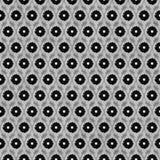 Negro y Gray Flower Repeat Pattern Background Foto de archivo libre de regalías