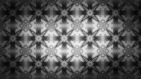 Negro y Gray Geometric Ornament Pattern Background stock de ilustración